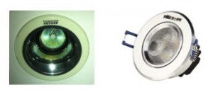By replacing 260 halogen spotlights (left) with LEDs (right), we expect to reduce our lighting electricity costs by 91% and reduce additional heat gain in the facility.