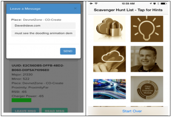 iBeacons for Messages of Things