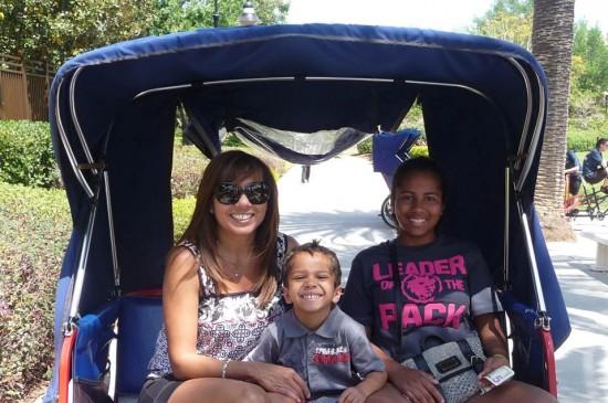 Ileana Rivera enjoying a bike ride with her children.