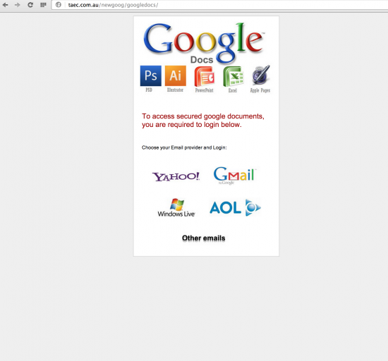 Slightly improved Google Docs attack around end of 2013