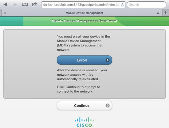 Figure 1: ISE integration with Mobile Device Management