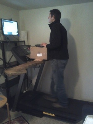 Marc Musgrove on his treadmill.