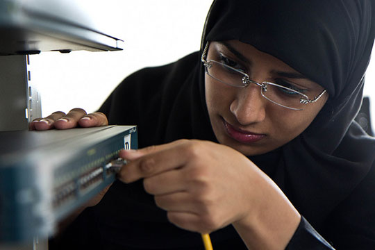 Cisco Networking Academy is helping women prepare for high-demand technology jobs in the MIddle East, where they account for 35% of the program's students