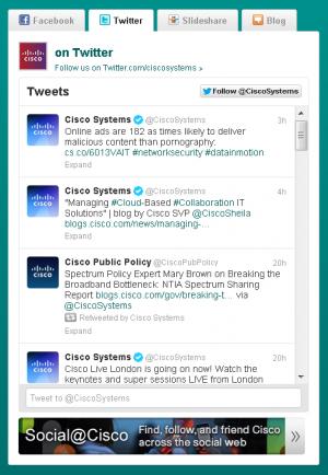 Cisco's Social Media Gadget