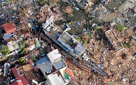 Haiyan is the deadliest typhoon on record in the Philippines, killing at least 6,268 people in that country alone. Photo courtesy The Telegraph