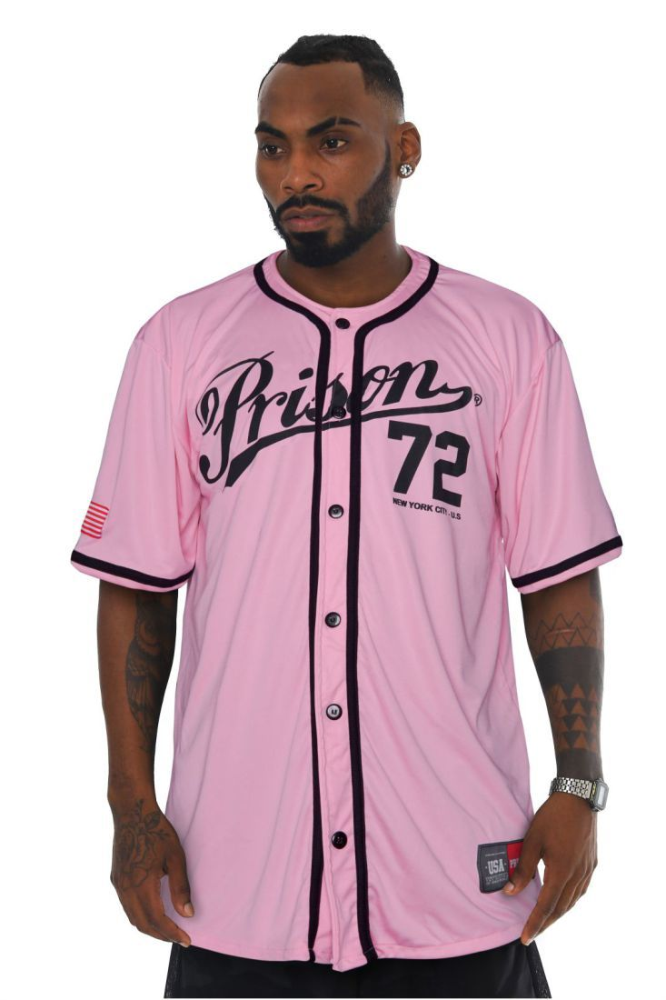 Camisa de Baseball Prison New York 72 Rosa
