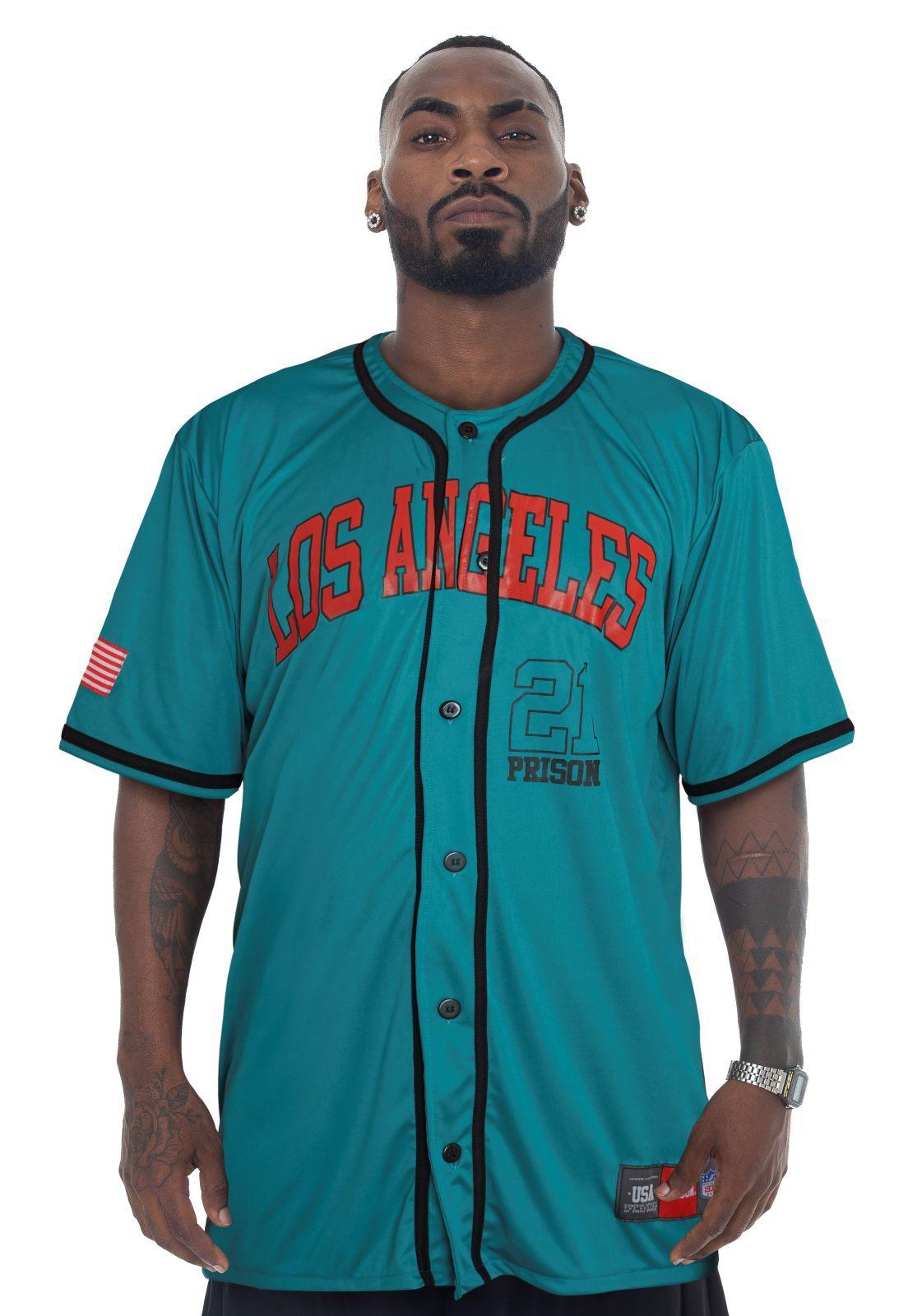 Camisa de Baseball Prison Los Angeles 21 Verde