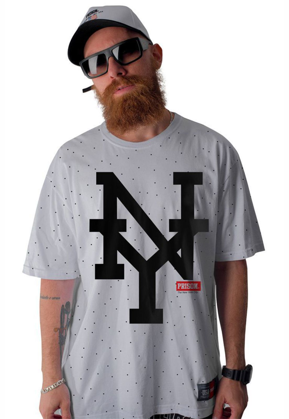 Camiseta Prison Big New York Branca