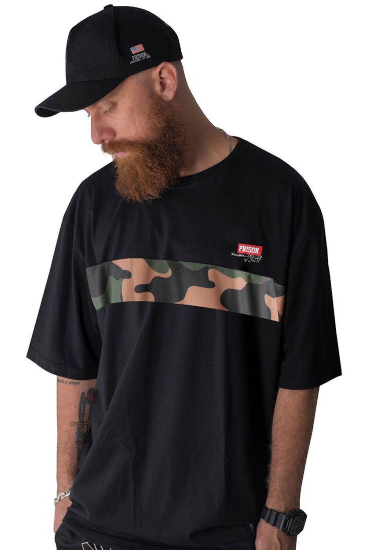 Camiseta Prison Camuflada Clean Preta