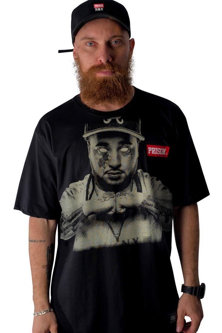 Camiseta Prison Down Since Birth Preta