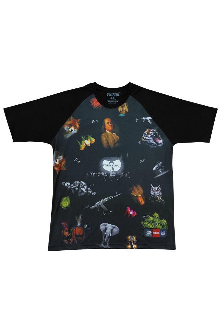 Camiseta Prison Global Rap Preta