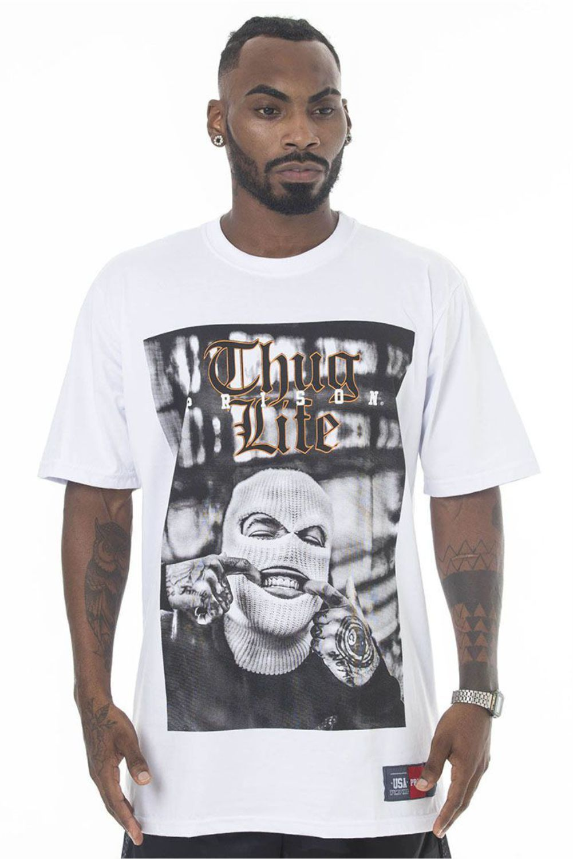 Camiseta Prison Grillz Rapper Branca