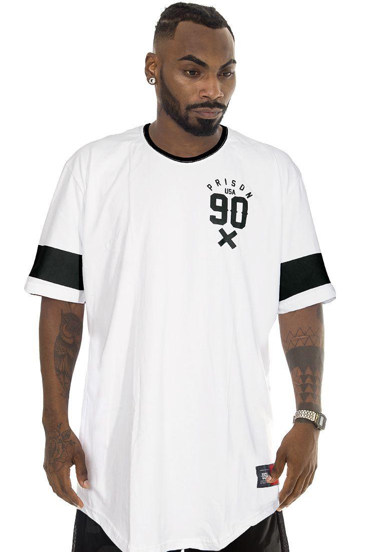 Camiseta Prison Long Line Street Branca