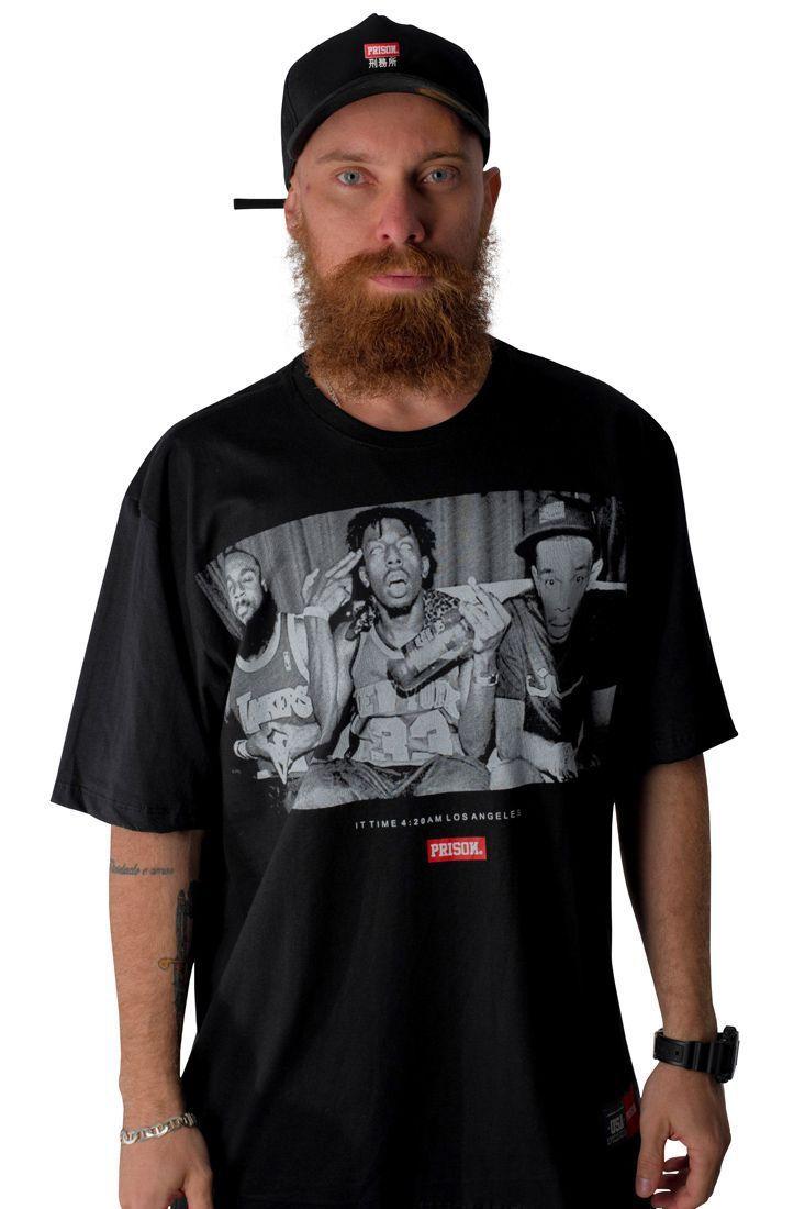 Camiseta Prison Los Angeles 4:20 Preta