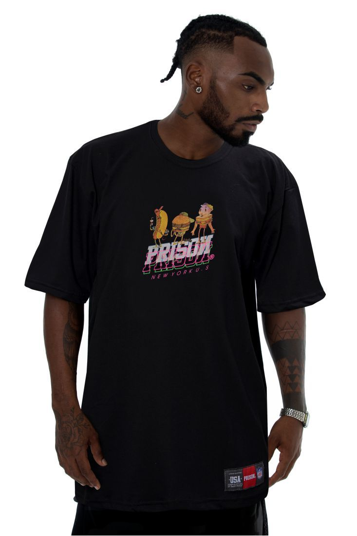 Camiseta Prison New York Food Preta