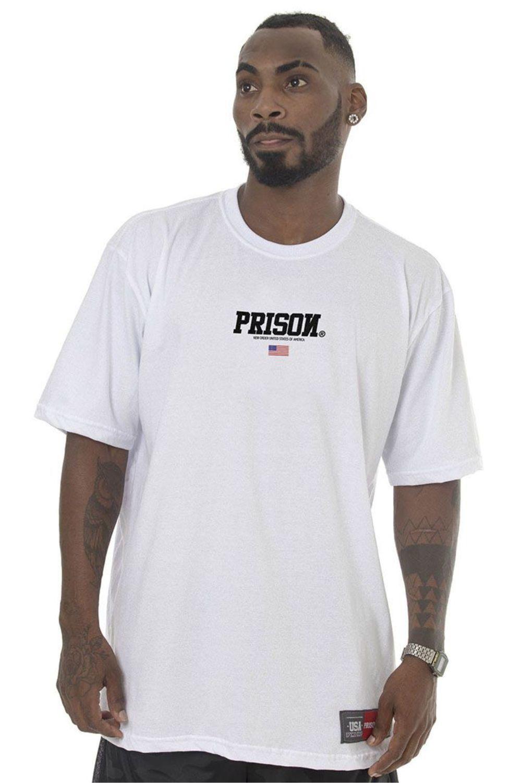 Camiseta Prison Off Usa Branca