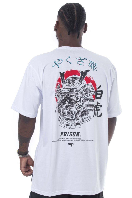Camiseta Prison Samurai Uzi Branca