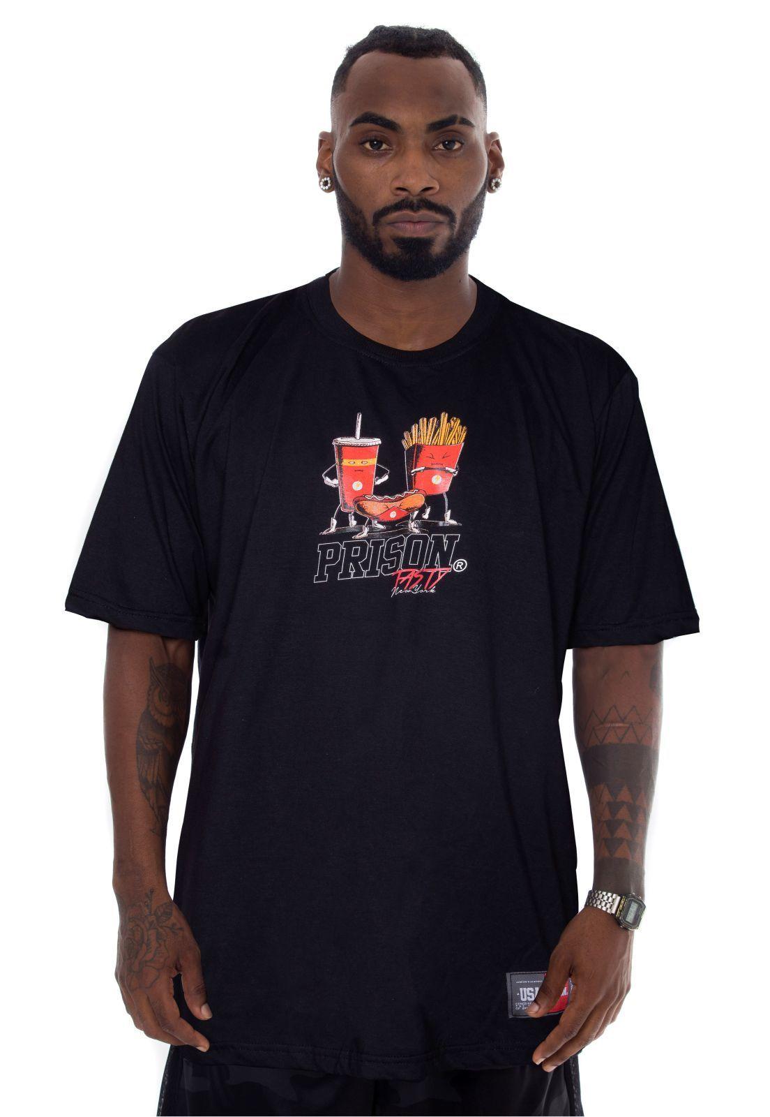 Camiseta Prison Tasty New York Preta