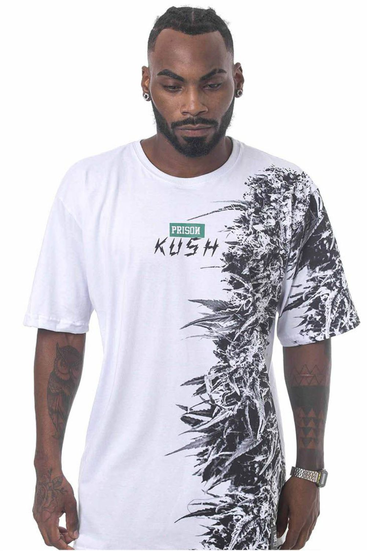 Camiseta Prison Vertical Kush Branca