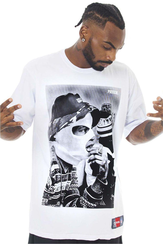 Camiseta Prison Bucket Rap Branca
