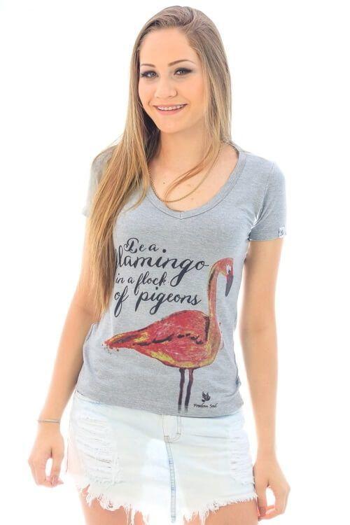 Blusa Flamingo Mescla (Freedom Soul)