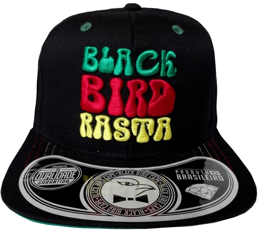 Boné Black Bird Rasta