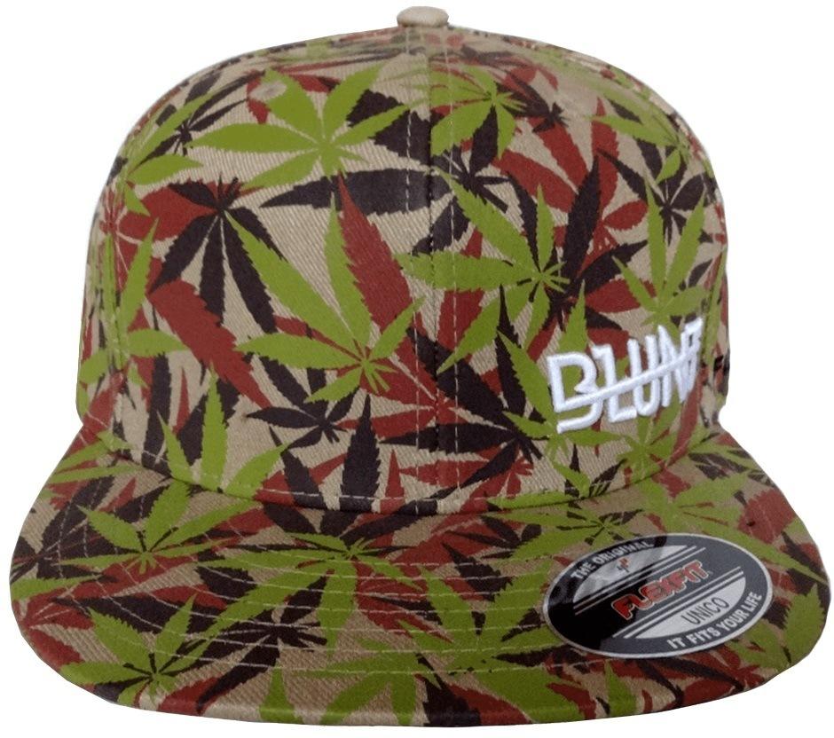 Boné Blunt Flexfit Fechado Camo Cannabis Leaf´s