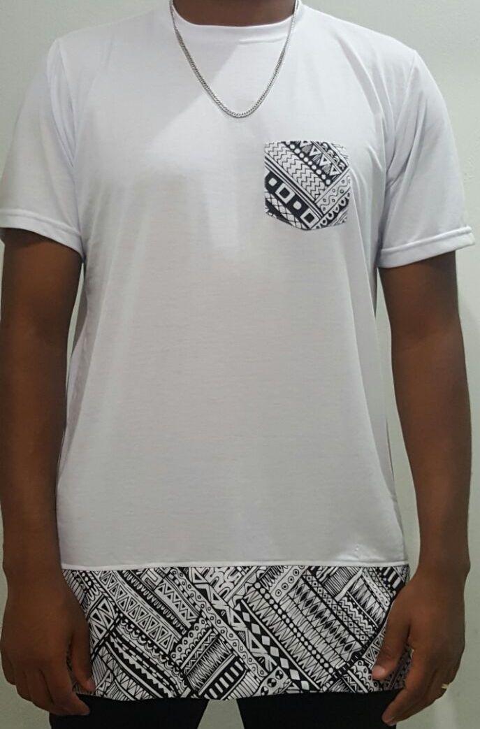 Camiseta Akanni Exclusive Long Etnic Branca(Lançamento)
