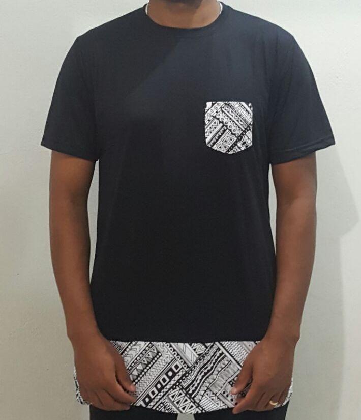 Camiseta Akanni Exclusive Long Etnic Preta(Lançamento)