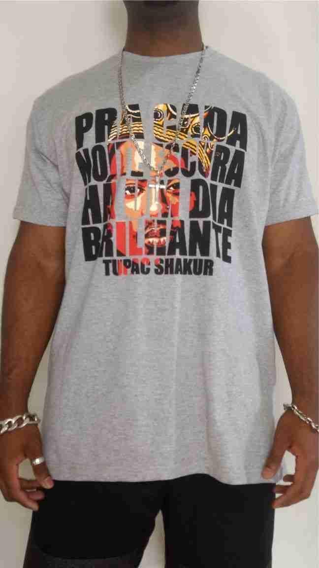 Camiseta Akanni Exclusive Tupac Shakur- Mescla