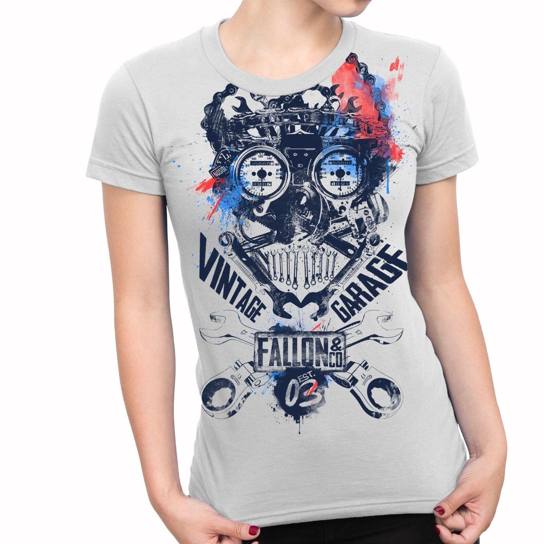 Camiseta Feminina Fallon Garage Branca
