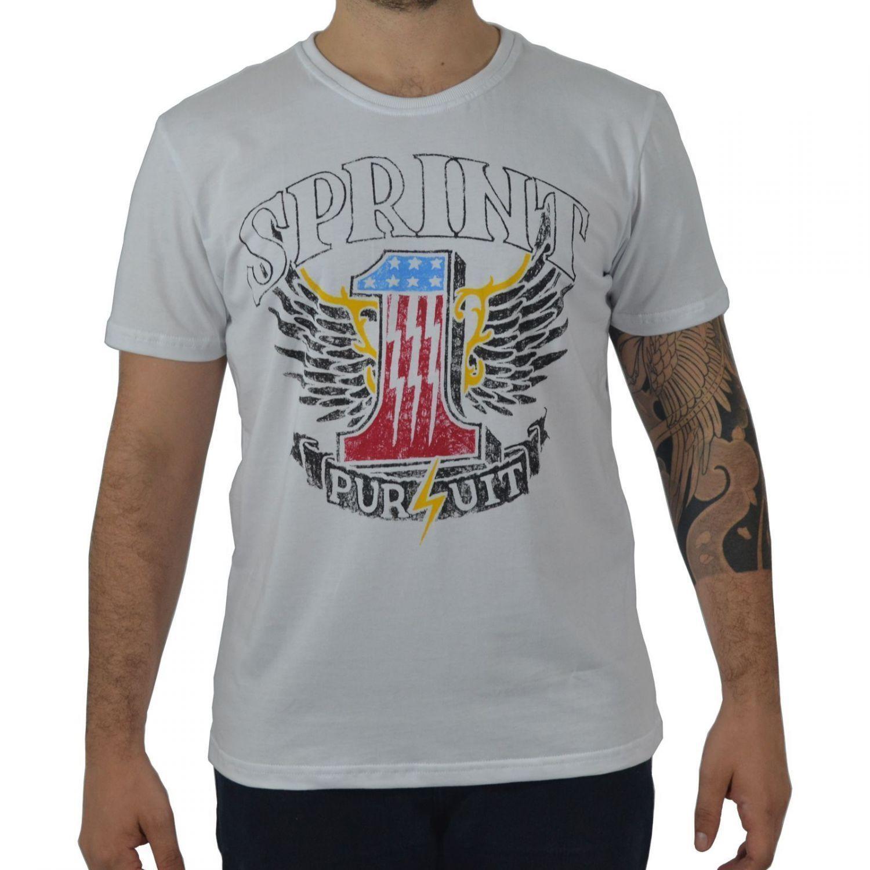 Camiseta Masculina Fallon & Co. American Sprint Branca