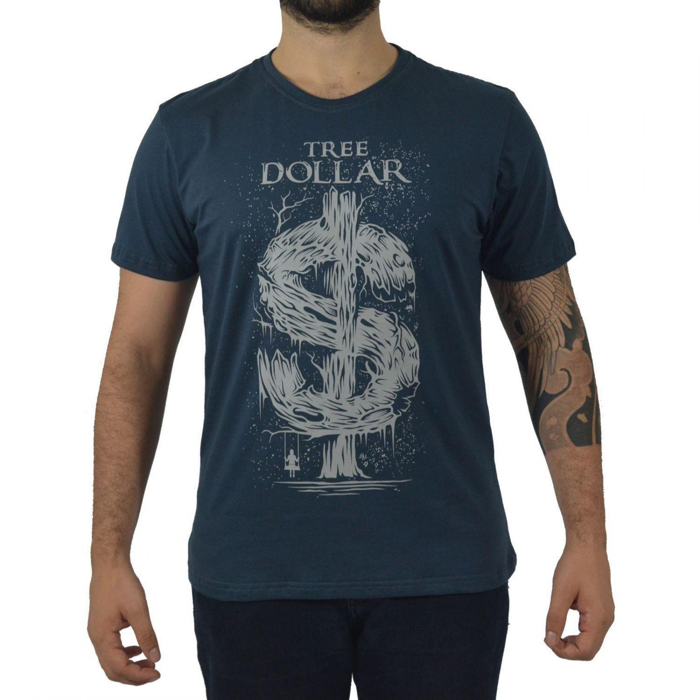 Camiseta Masculina Fallon & Co. Tree Dollar Chumbo