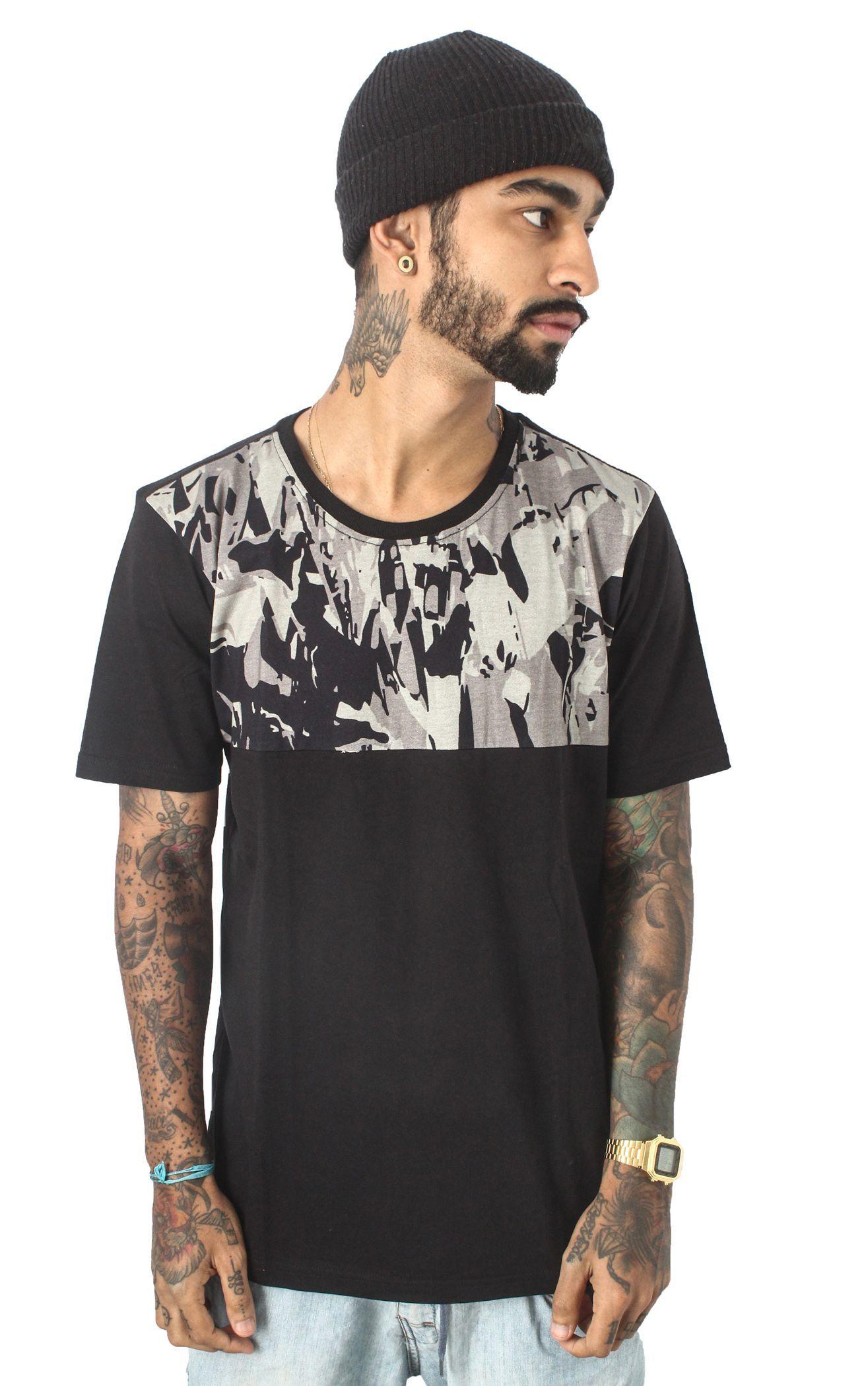 Camiseta Meio Corpo Camuflada - 31 CLOTHING
