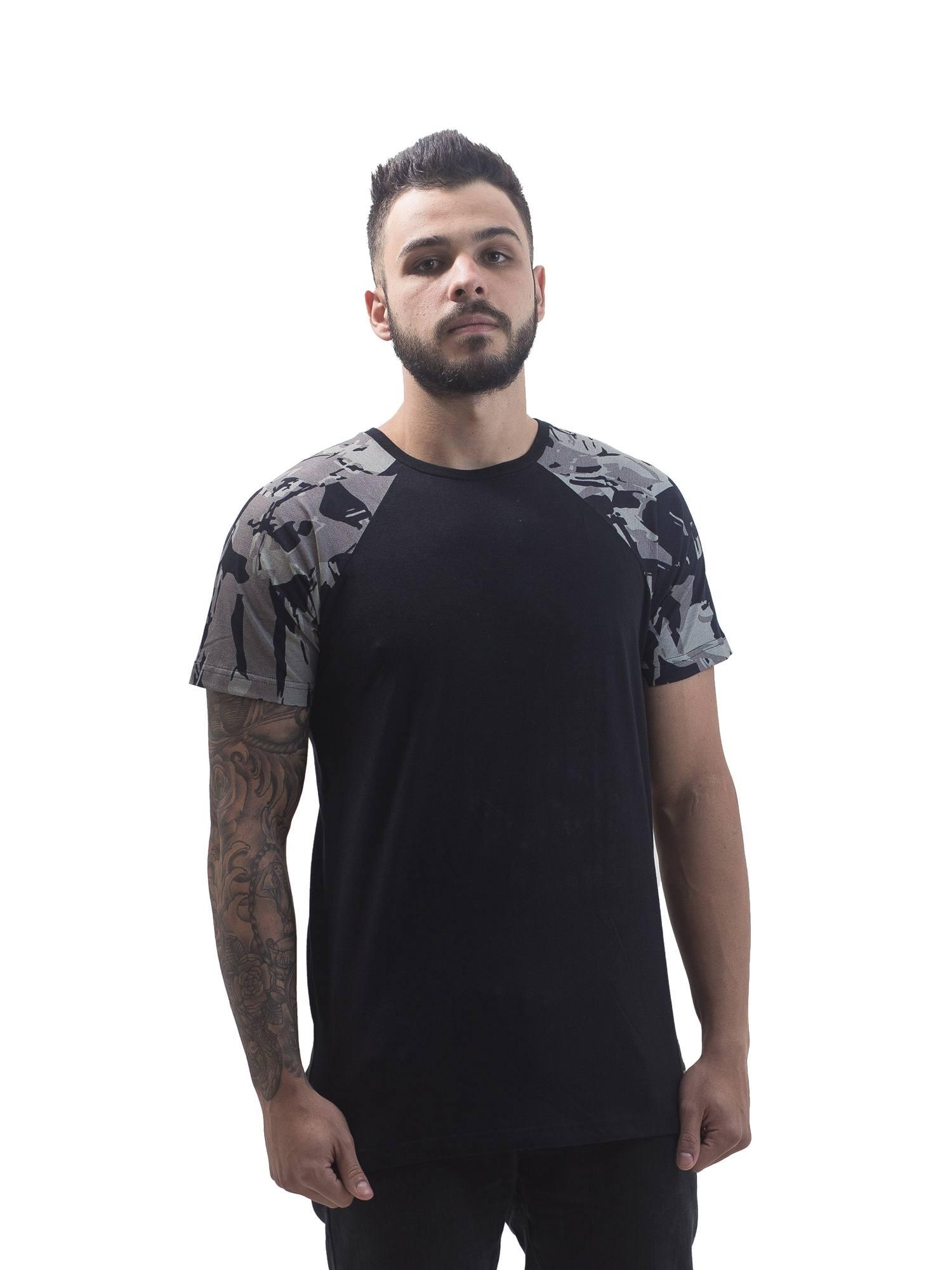 Camiseta raglan CAMO Mangas