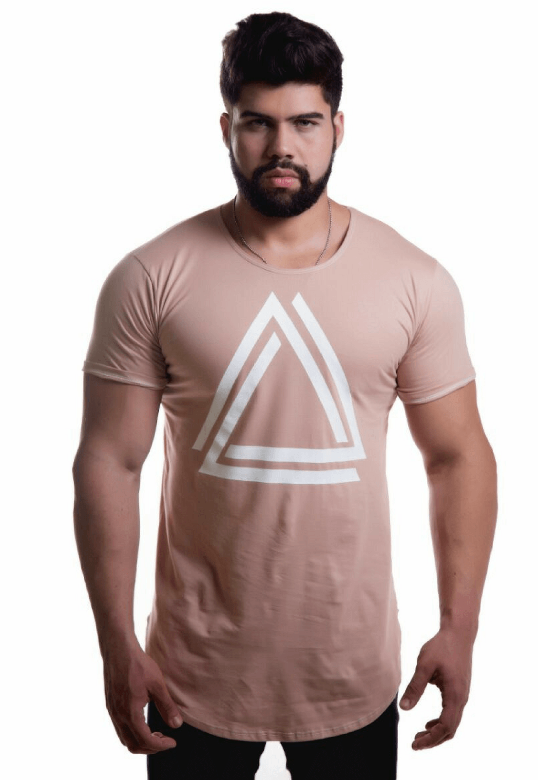 Camiseta Top Fit Triangle Caqui