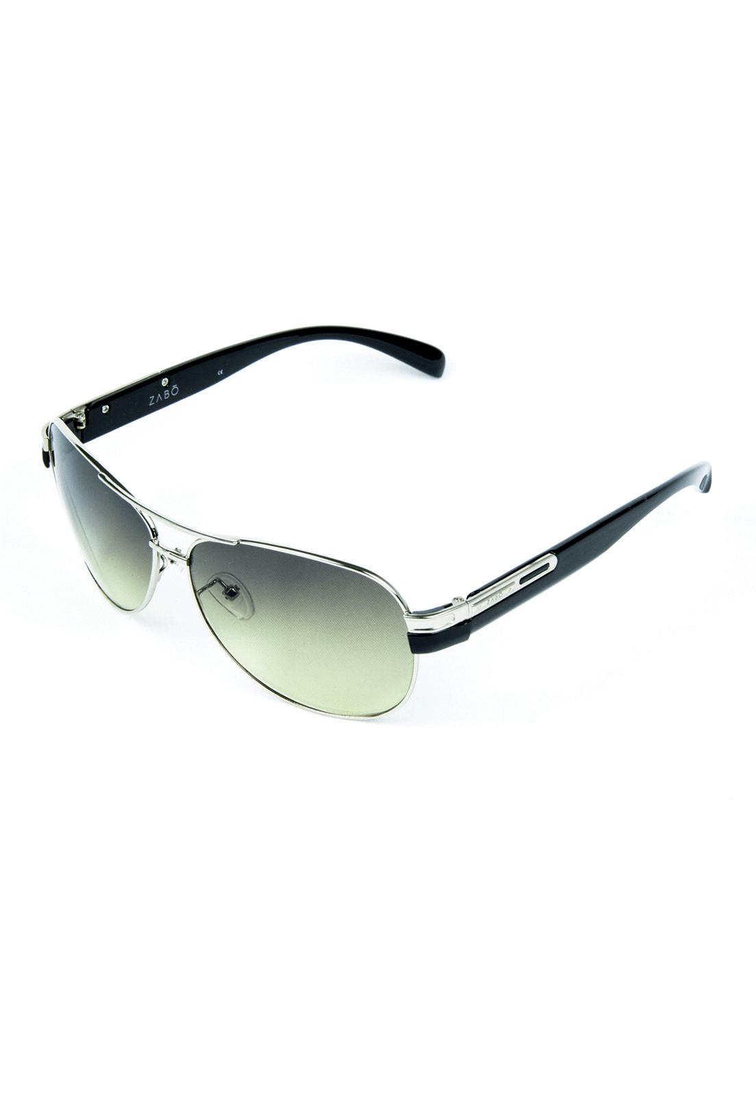 Óculos de Sol com Anti Reflexo em Metal Zabô Dublin Prata