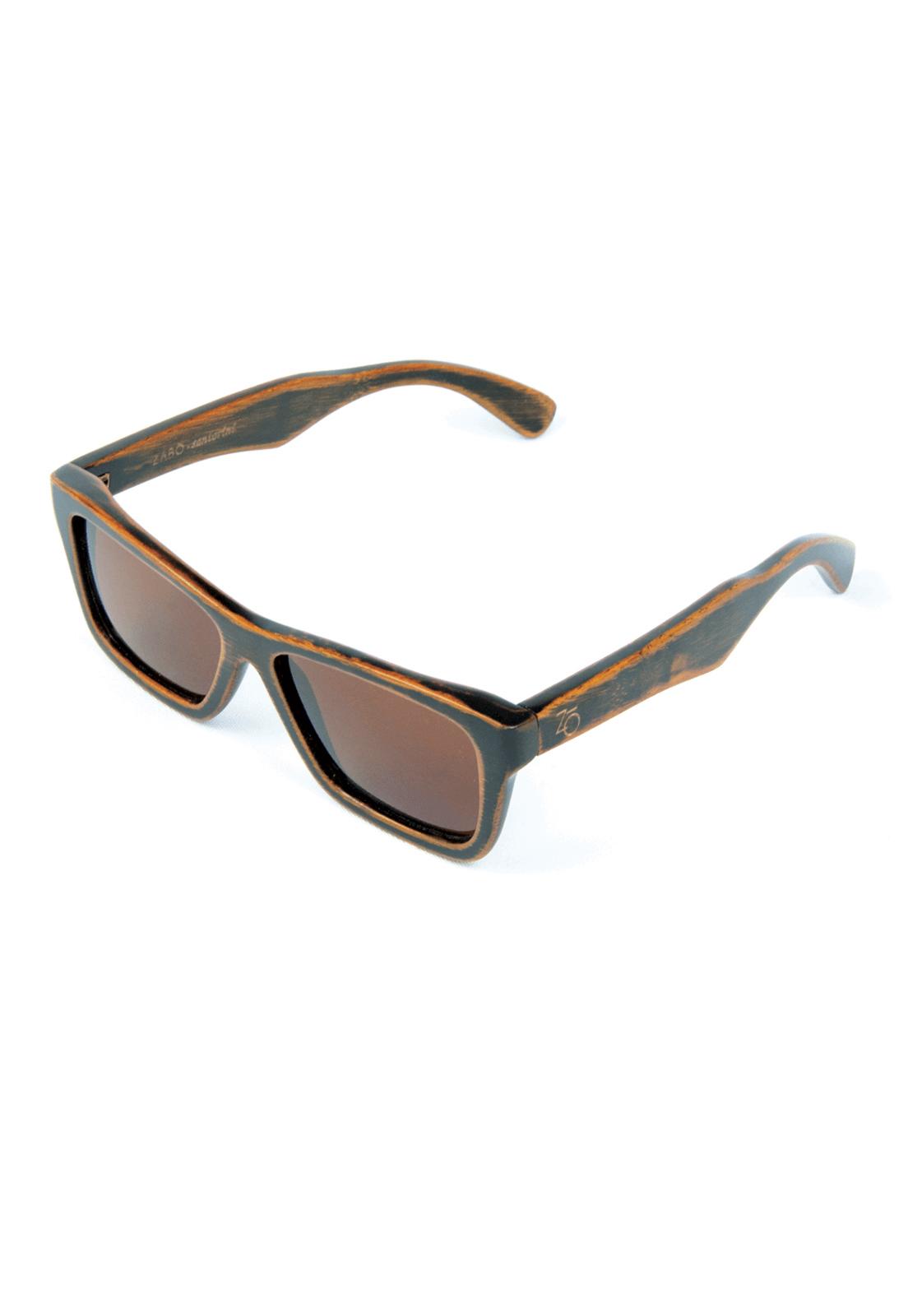 Óculos de Sol Polarizado em Madeira Bambu Zabô Santorini