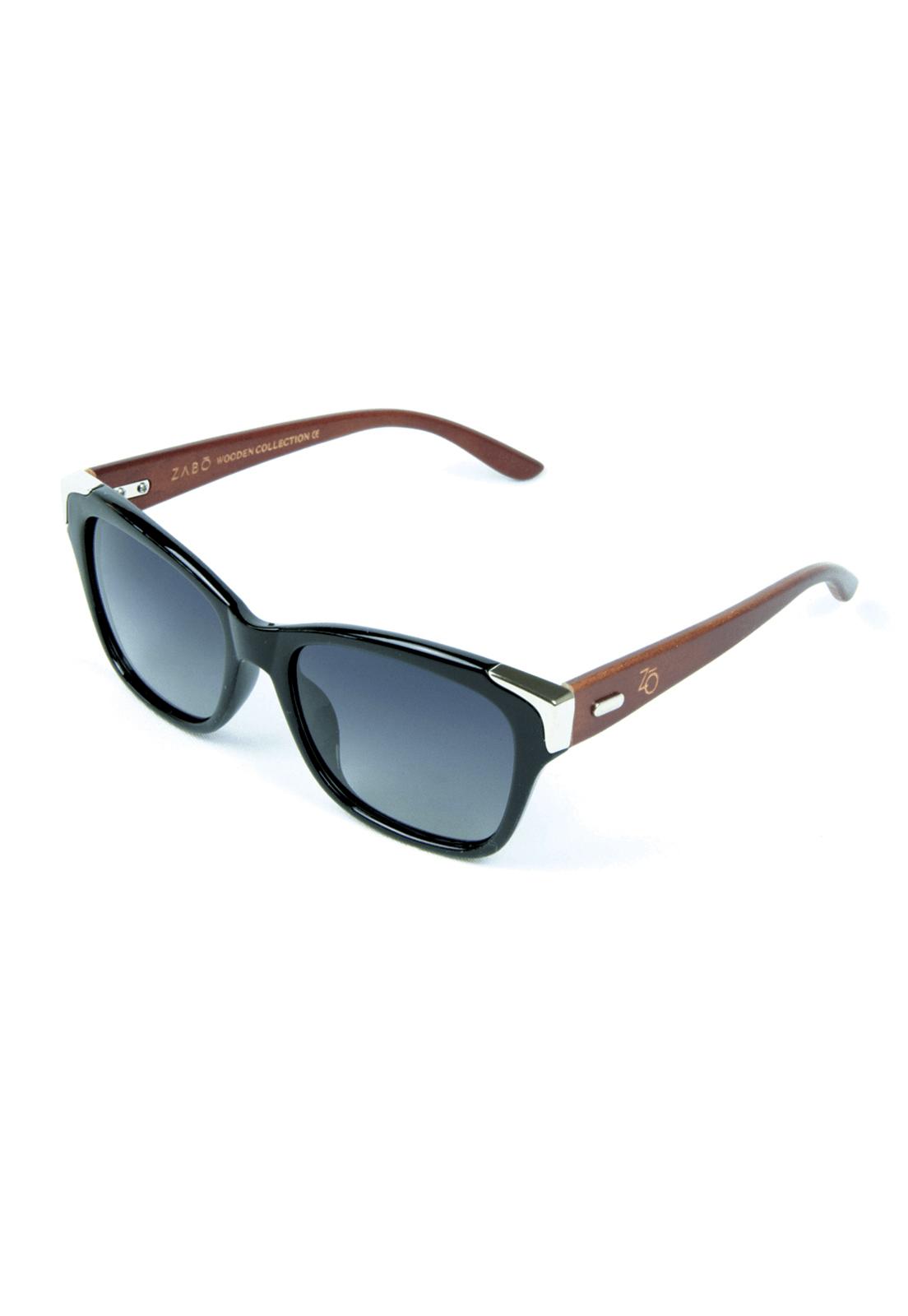 Óculos de Sol Polarizado Zabô Barcelona Preto Lentes Black