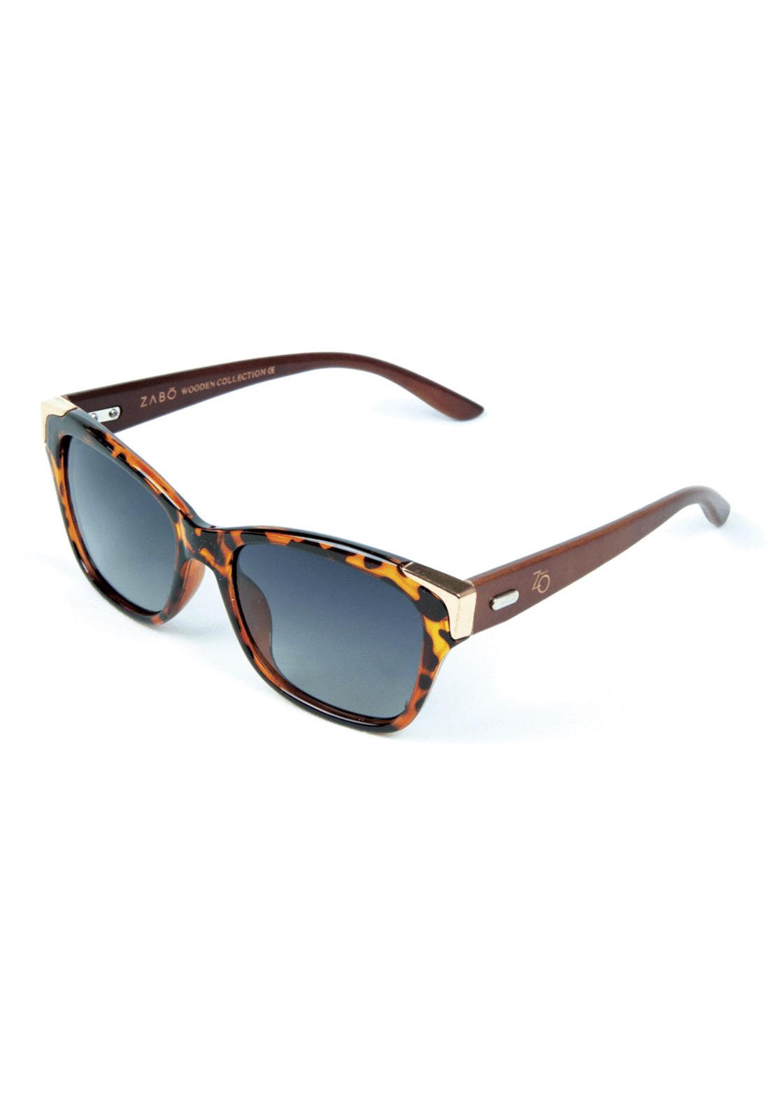 Óculos de Sol Polarizado Zabô Barcelona Tartaruga Lentes Black