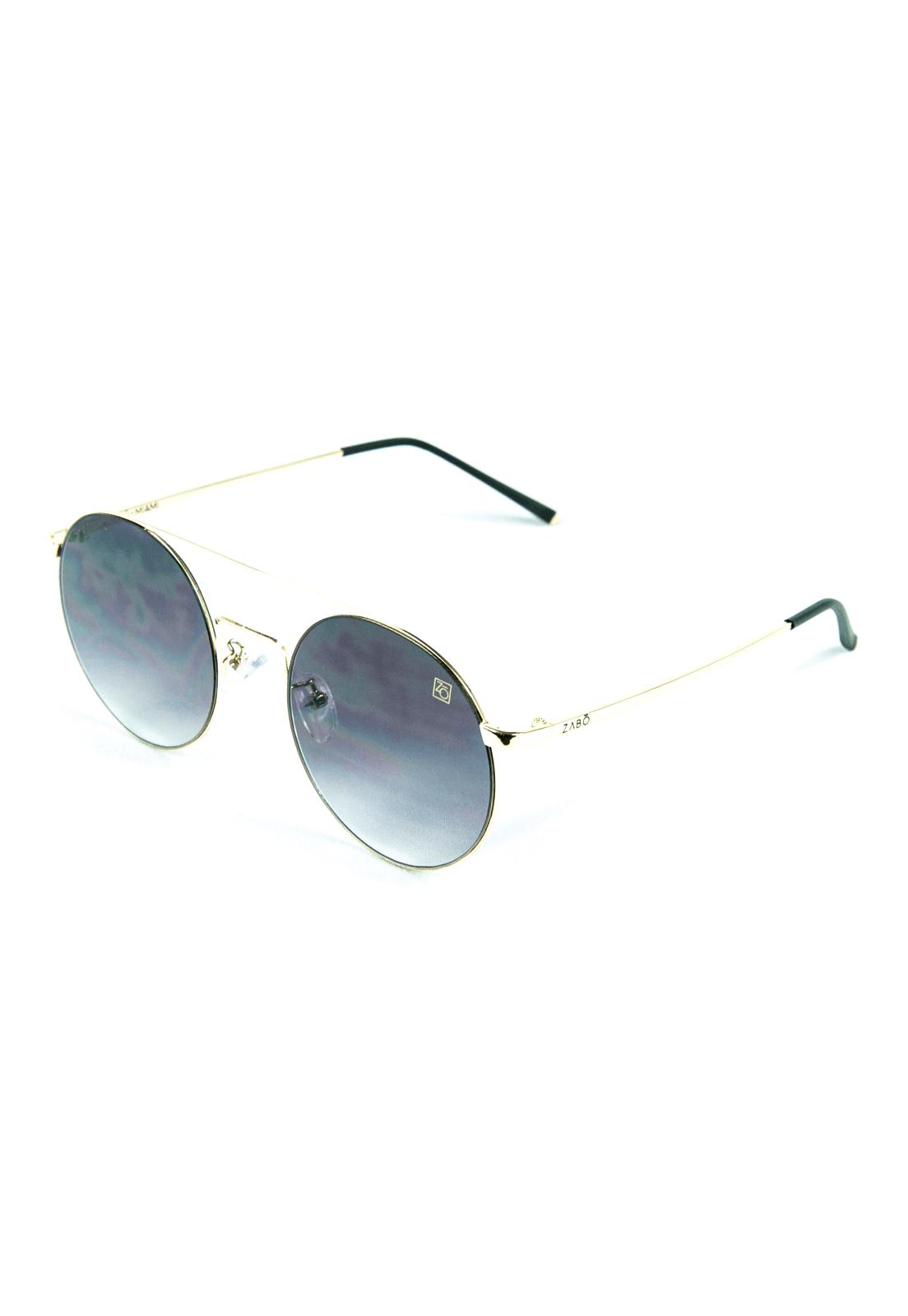 Óculos de Sol Redondo Zabô Miami Dourado em Metal