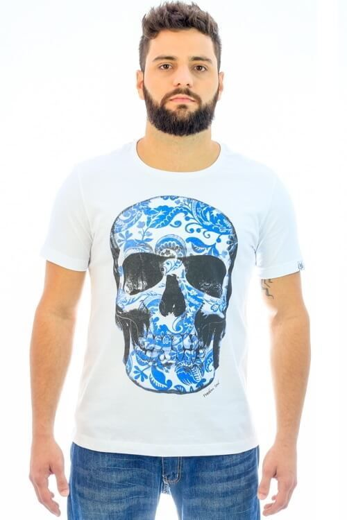 Camiseta Blue Skull (Freedom Soul)