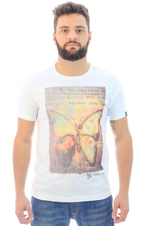 Camiseta Butterfly Effect Branca (Freedom Soul)