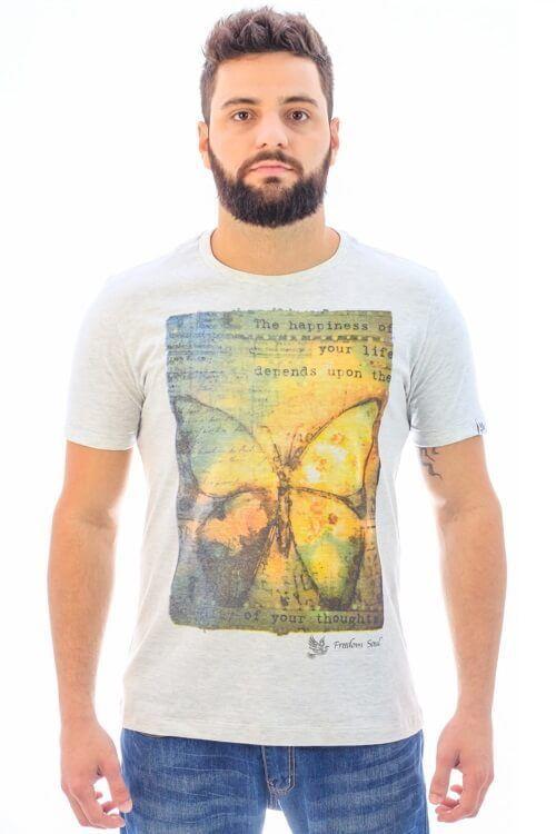 Camiseta Butterfly Effect Mescla (Freedom Soul)