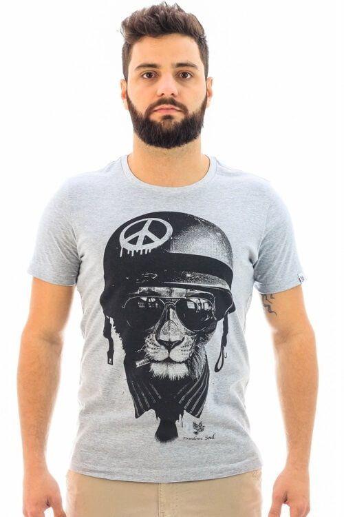 Camiseta Peace Soldier Mescla (Freedom Soul)