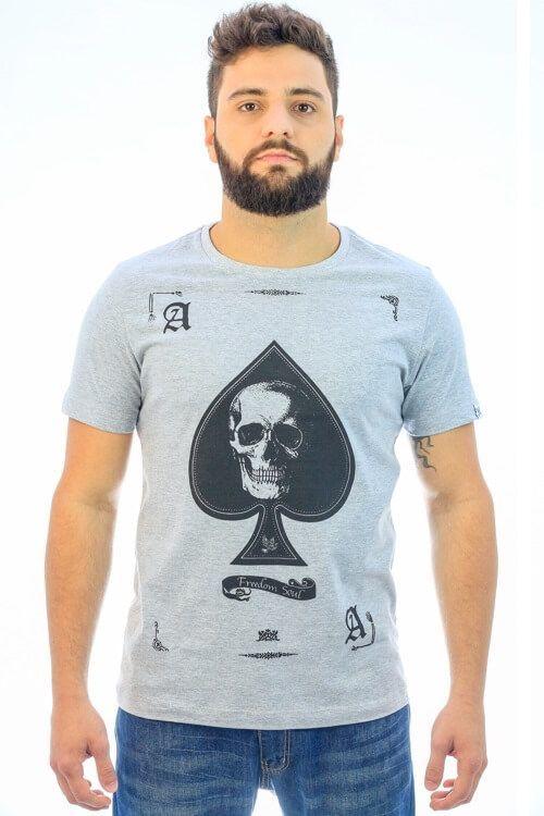 Camiseta Spade Skull Mescla (Freedom Soul)