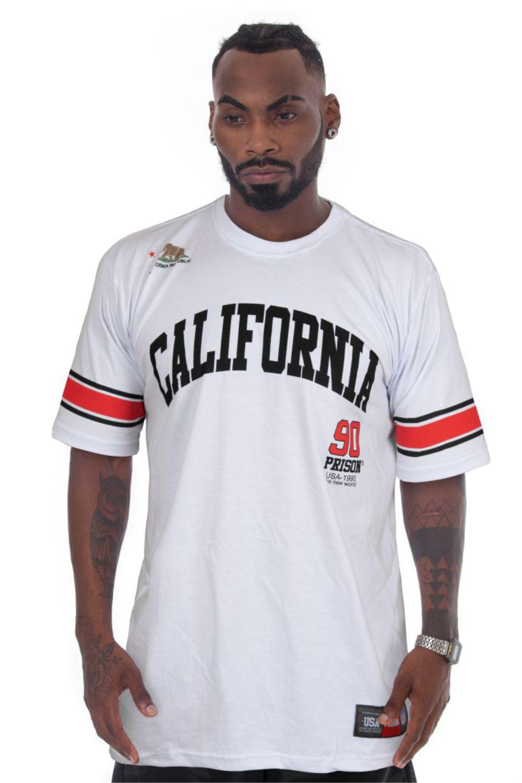 Camiseta Prison Streetwear California 90 Branca