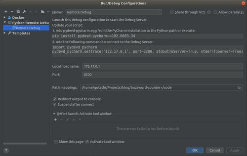 pycharm remote debug - kubernetes development