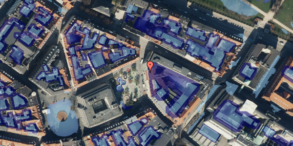Ekstrem regn på Hauser Plads 18, kl. , 1127 København K