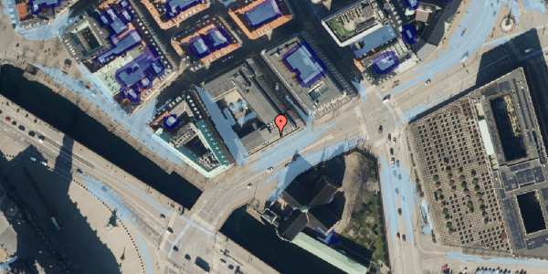 Ekstrem regn på Holmens Kanal 22, kl. , 1060 København K